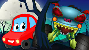 monsters truck videos little red car rhymes little red car and the haunted house