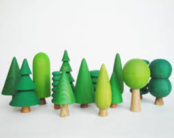 wooden trees etsy