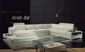 contemporary leather sectional sofa sectionals