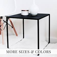 amazon com minimal black cube shaped side table stool end table