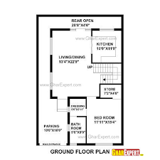 house map design 20 x 50 pretentious idea 11 house plans for plot size 50 square yards plan