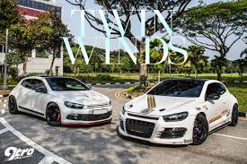 volkswagen scirocco r modified volkswagen sciroccos twin winds 9tro