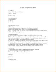 effective resignation letter template sample of resignation letter
