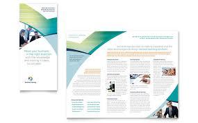 business training tri fold brochure template word u0026 publisher