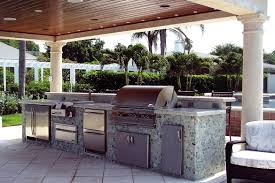 Backyard Living Ideas by Contemporary Kitchen Best Design For Outdoor Kitchen Cabinets