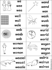 letter w alphabet activities at enchantedlearning com