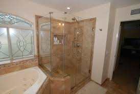 corner tub shower seat master bathroom reconfiguration yorba