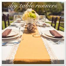 make your own table runner diy table runners artfully wed wedding blog