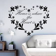 online get cheap 3d wall art aliexpress com alibaba group home is where the creative decoration heart tattoo heart wall destination flower removable wall stickers