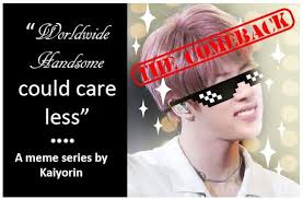 Handsome Meme - worldwide handsome could care less meme series the comeback army