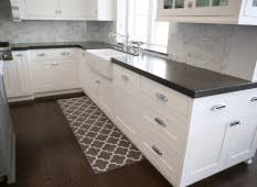 kitchen and floor decor contemporary black and white kitchen set with chevron rug on