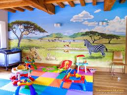 Safari Wall Murals Safari Mural Based On Serengeti Sacredart Murals
