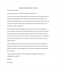 sample character reference letter 8 free documents in pdf doc