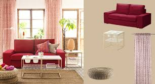 Ikea Ps 2012 Side Table Kivik Two Seat Sofa With Dansbo Medium Red Cover And Ikea Ps 2012