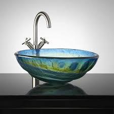 blue glass vessel sink wonderful blue the most brilliant blue glass bathroom sink ordinary