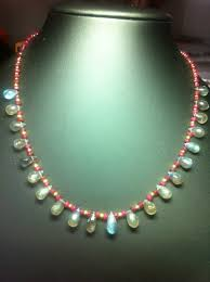drop bead labradorite drops with ruby necklace nl001 artisticgemjewels