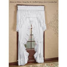 Frilly Shower Curtain Madelyn Ruffled Priscilla Curtains Window Treatment