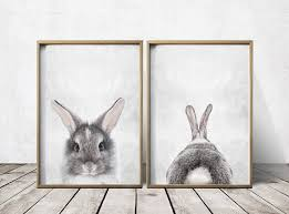 Nursery Decor Cape Town by Nursery Wall Art Nursery Decor Gray Rabbit Print Bunny