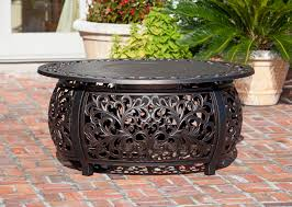 Well Traveled Living Patio Heater by Toulon Oval Cast Aluminum Lpg Fire Pit Well Traveled Living