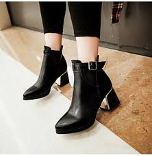 womens fashion boots nz shoes nz chunky heel fashion boots pointed toe boots office