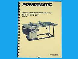 powermatic table saw model 63 powermatic table saw manual wiring library