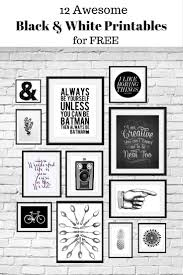 best 25 printable wall art ideas on pinterest diy framed wall 12 free black and white printables great for using in your gallery wall curated by