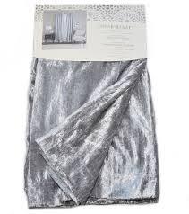 cynthia rowley silver grey vintage velvet pair window curtain