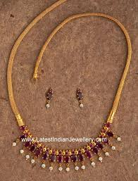 gold necklace simple design images Simple designer ruby gold necklace gold necklaces designers and jpg