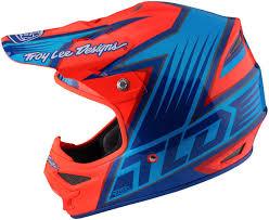 snell approved motocross helmets troy lee designs air vengeance orange blue motocross helmets