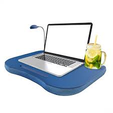 lighted laptop desk tray amazon com laptop lap desk portable with foam filled fleece