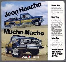 jeep honcho stepside mucho macho 1982 jeep j 10 honcho