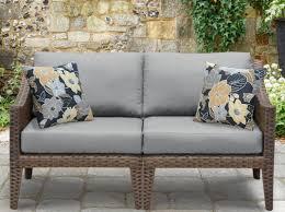 All Weather Wicker Loveseat Manhattan Outdoor Wicker Loveseat With Cushions U0026 Reviews Allmodern