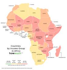 Map Of Africa With Countries Labeled by These Maps Divide The World Into Four Income Groups