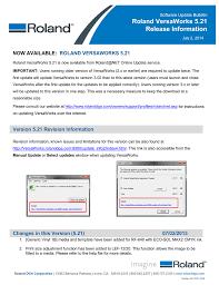 roland versaworks 5 21 release information
