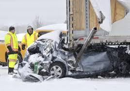 photos multi car crash on 401 toronto star