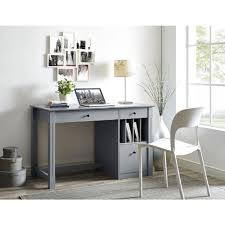 Home Computer Desk Walker Edison Furniture Company Home Office Deluxe Grey Wood