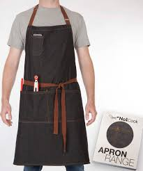 chef apron by no1cook durable cotton denim apron with pockets for