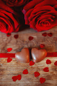 s day heart candy s day present chocolate heart candies and roses stock