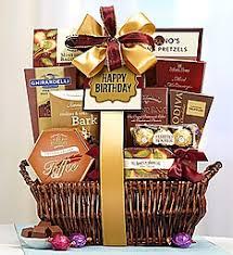 happy birthday gift baskets happy birthday deluxe balsam basket