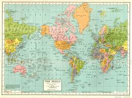 Vintage World Map by Vintage World Map Picture Images