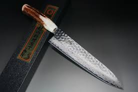 sakai takayuki 45 layer damascus antler handle chef knife gyuto