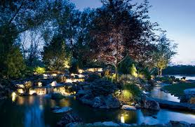focus on a water feature kichler landscape led lighting
