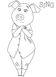 pig coloring page coloring home