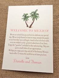 wedding gift letter wedding welcome letters palm tree welcome letter destination