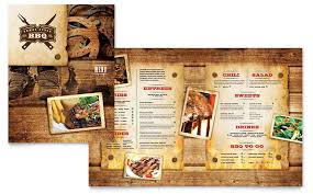 menu publisher template steakhouse bbq restaurant menu template word publisher