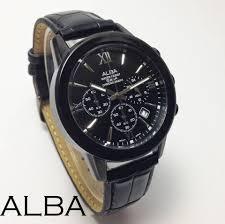 Jam Tangan Alba jual jam tangan alba cronograph leather bemfashion