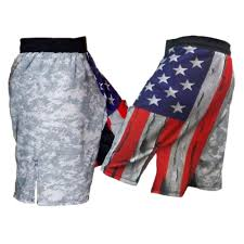 American Flag Workout Shorts Distressed Usa Flag And Acu Mma Shorts Combatives Gear A Div Of