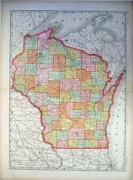 Map Of Wisconsin by Prints Old U0026 Rare Wisconsin Page