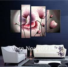flower oil painting contemporary abstract art canvas hand painted