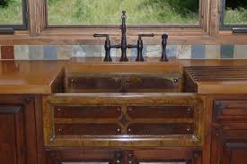 Rustic Kitchen Sink Ideas Tips Beautiful Rustic Copper Farmhouse Sink With Black